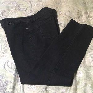 Chico's black skinny jeans.